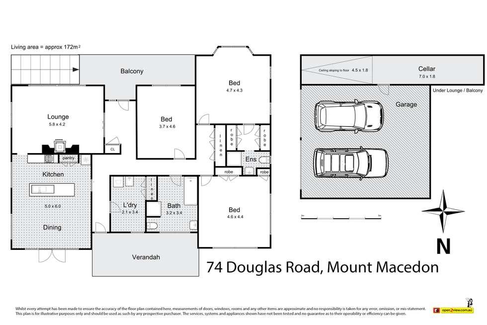 Floorplan of Homely house listing, 74 Douglas Road, Mount Macedon VIC 3441