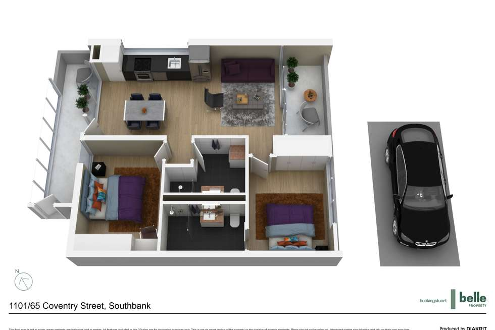 Floorplan of Homely apartment listing, 1101/65 Coventry Street, Southbank VIC 3006