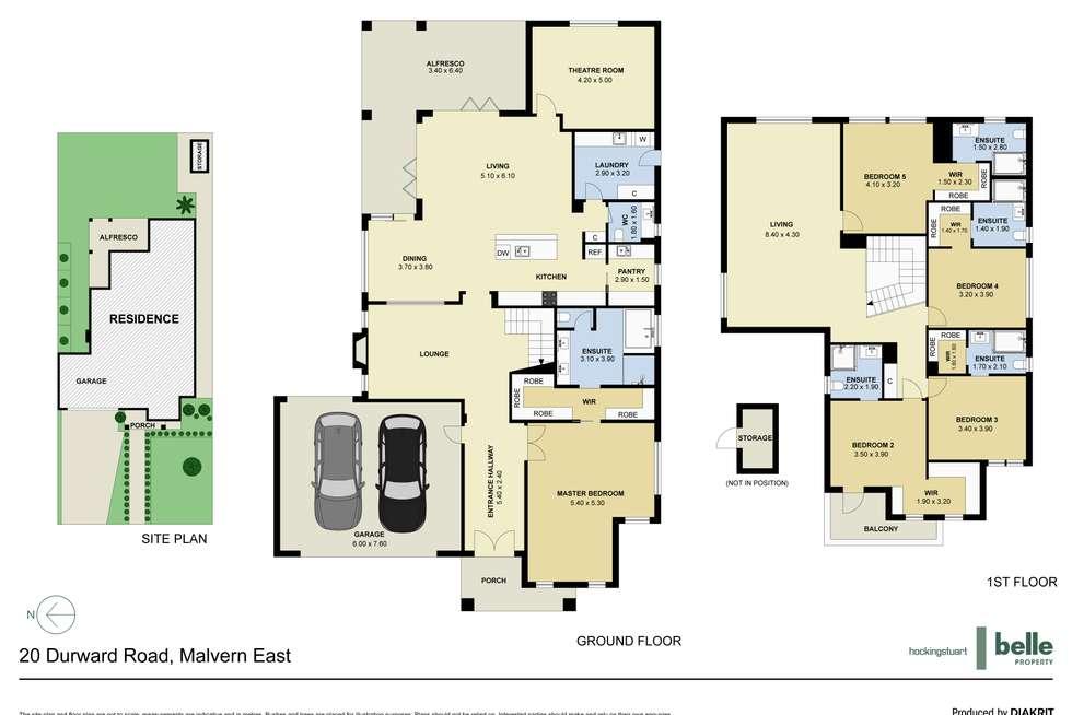 Floorplan of Homely house listing, 20 Durward Road, Malvern East VIC 3145