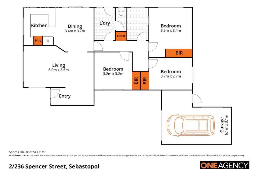 Floorplan of Homely townhouse listing, 2/236 Spencer Street, Sebastopol VIC 3356