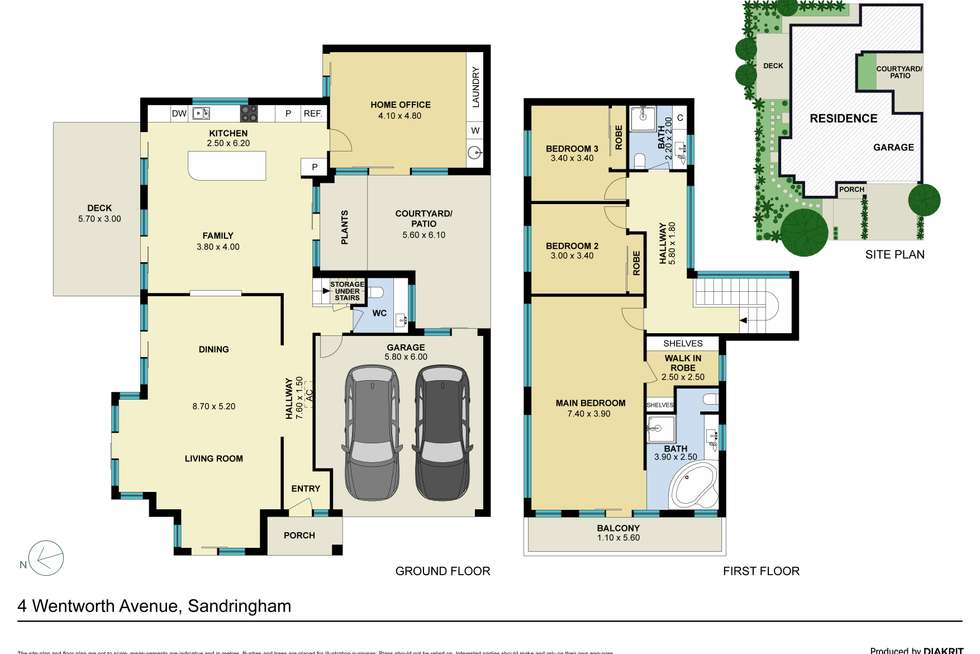 Floorplan of Homely house listing, 4 Wentworth Avenue, Sandringham VIC 3191