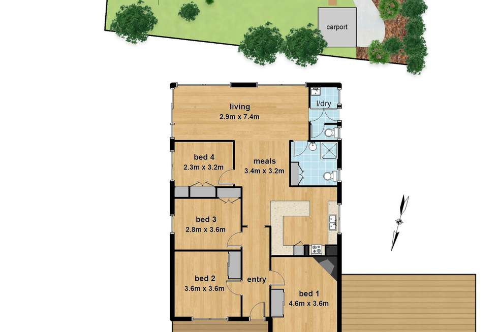 Floorplan of Homely house listing, 27 Ferndale Road, Upper Ferntree Gully VIC 3156