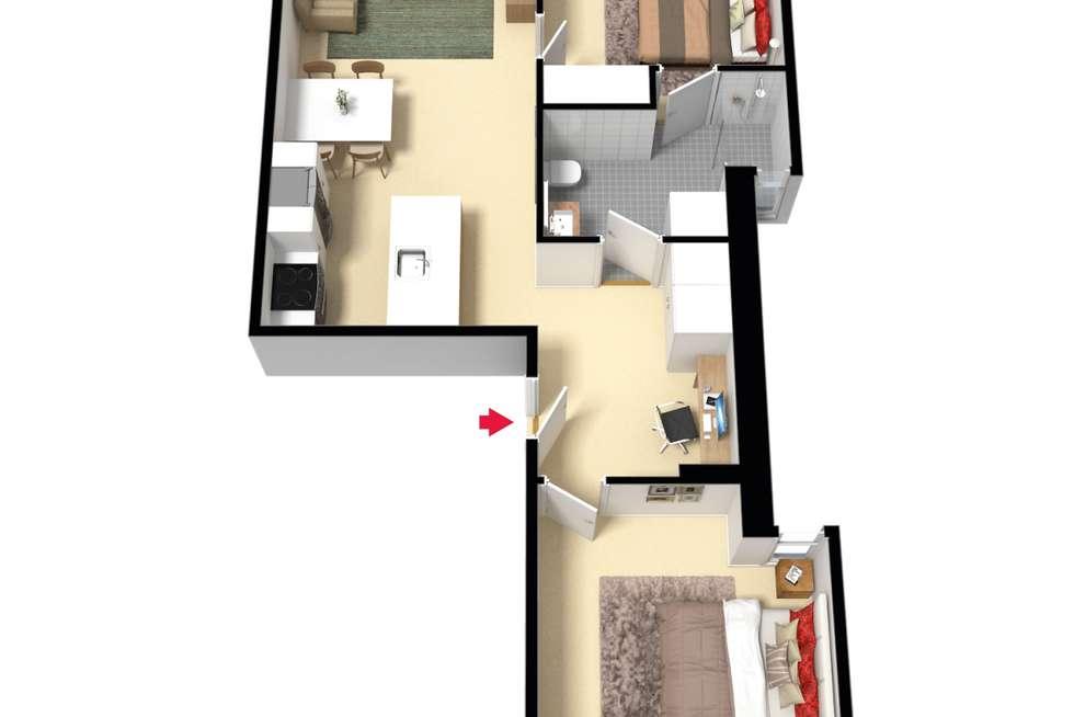 Floorplan of Homely apartment listing, 1011/1 Clara Street, South Yarra VIC 3141
