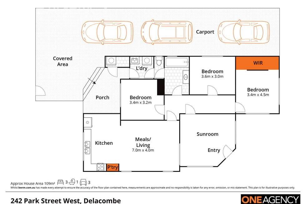 Floorplan of Homely house listing, 242 Park Street, Delacombe VIC 3356