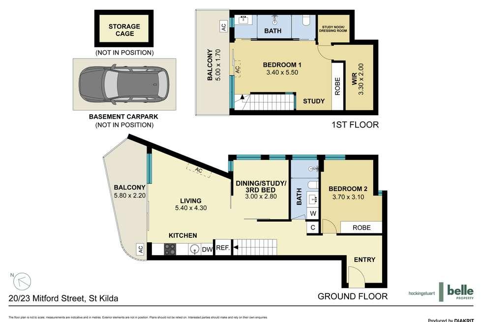 Floorplan of Homely apartment listing, 20/23 Mitford Street, St Kilda VIC 3182