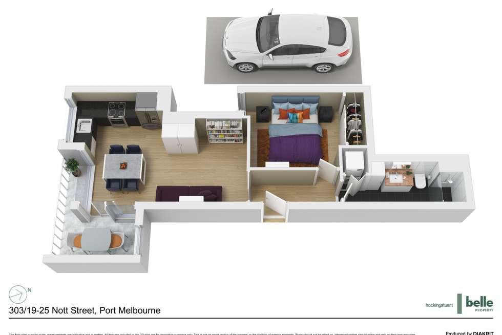 Floorplan of Homely apartment listing, 303/19-25 Nott Street, Port Melbourne VIC 3207