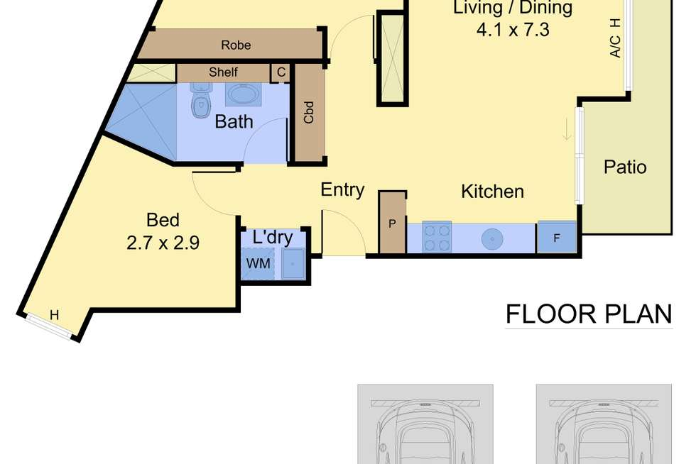 Floorplan of Homely apartment listing, 1/19 Boundary Street, Port Melbourne VIC 3207