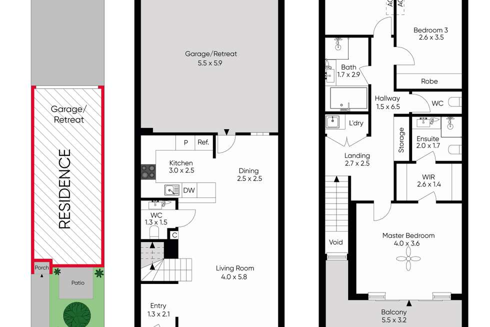 Floorplan of Homely townhouse listing, 2/28 Clairmont Avenue, Bentleigh VIC 3204