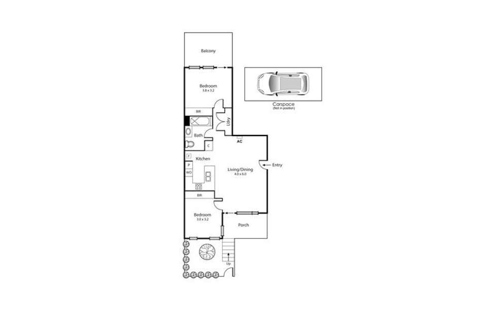 Floorplan of Homely apartment listing, 1/3 Liardet Street, Port Melbourne VIC 3207