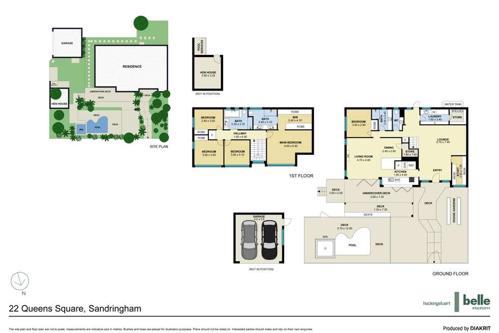 Floorplan of Homely house listing, 22 Queens Square, Sandringham VIC 3191
