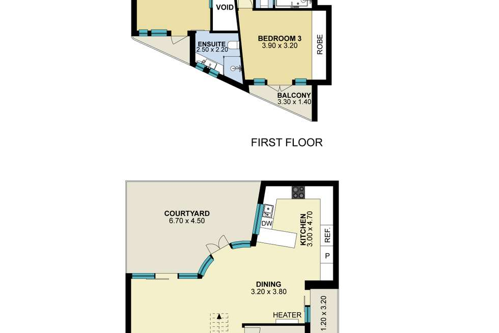 Floorplan of Homely townhouse listing, 33 Waterloo Place, Richmond VIC 3121