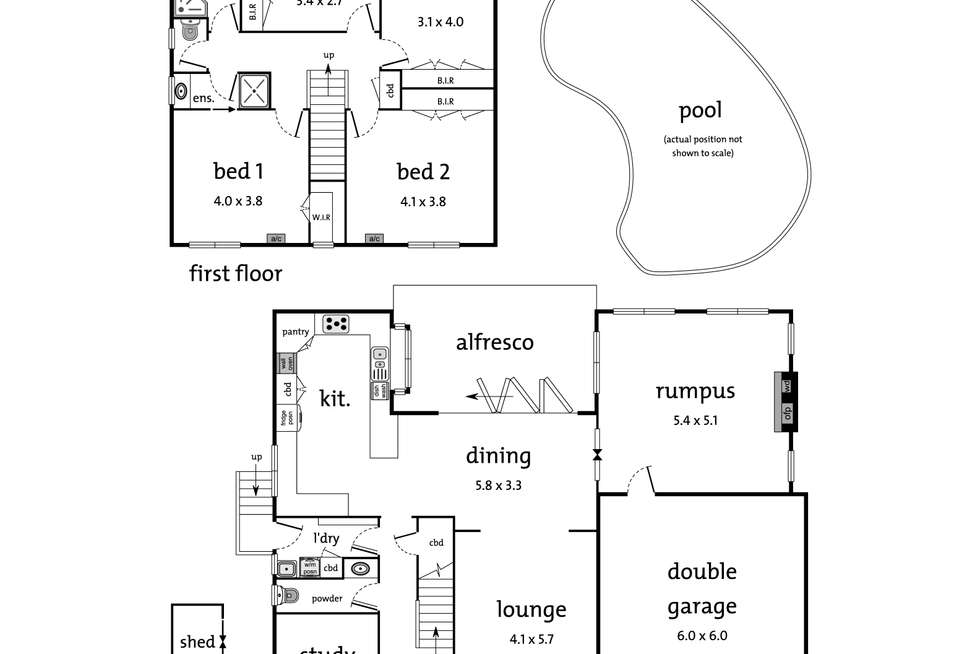 Floorplan of Homely house listing, 12 Rosco Drive, Templestowe VIC 3106