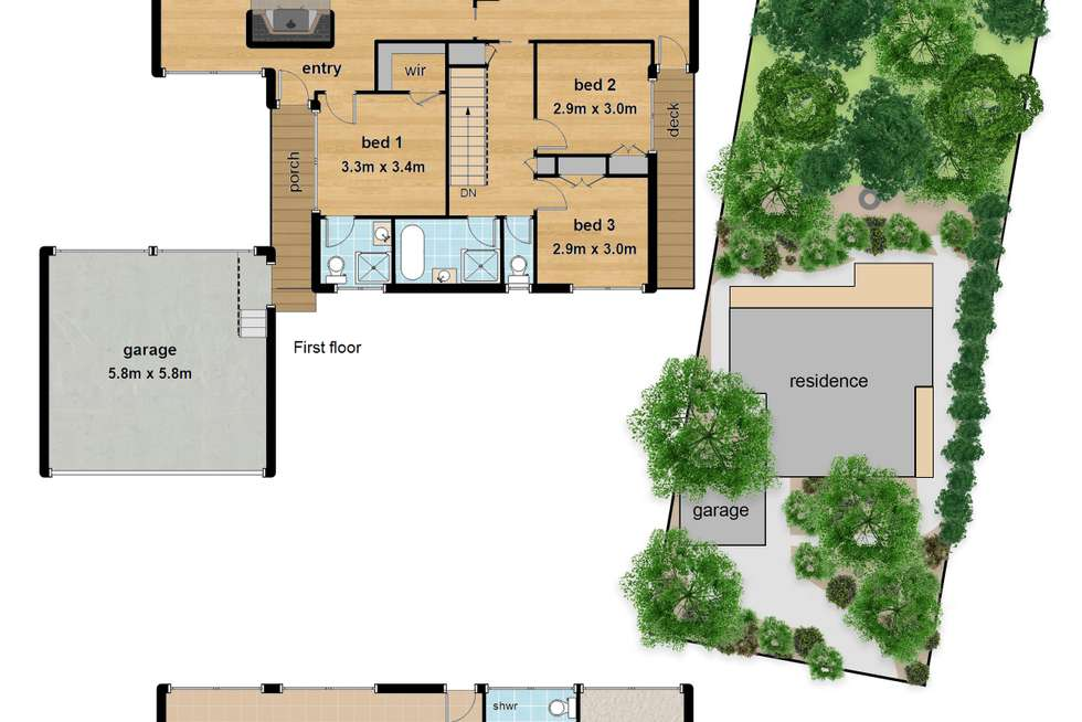 Floorplan of Homely house listing, 10 Baldwin Avenue, Upper Ferntree Gully VIC 3156