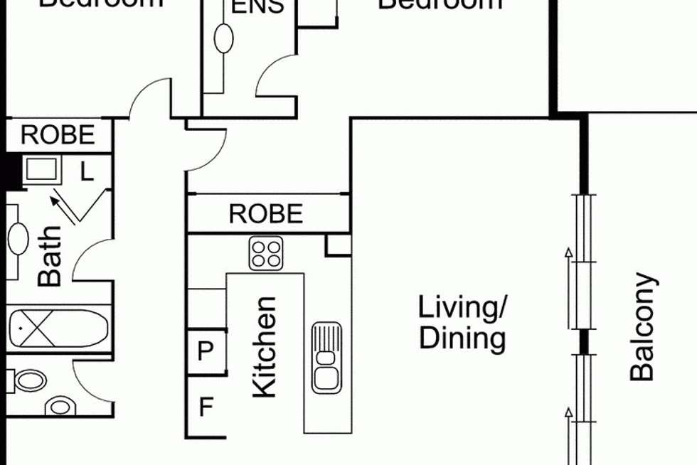 Floorplan of Homely apartment listing, 16/120 Princes Street, Port Melbourne VIC 3207