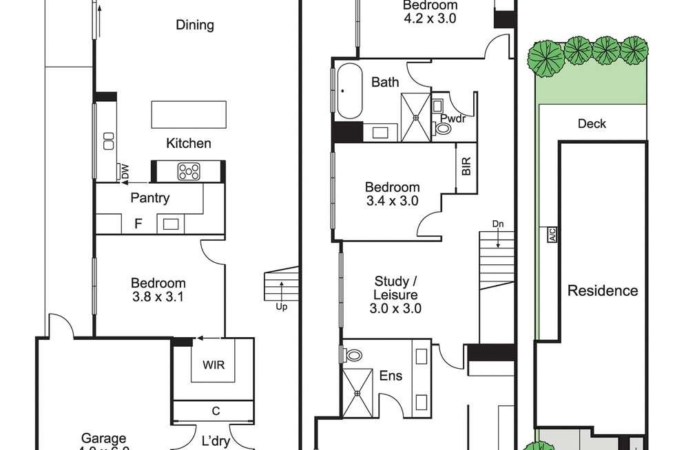 Floorplan of Homely townhouse listing, 9a Margaretta Avenue, Murrumbeena VIC 3163