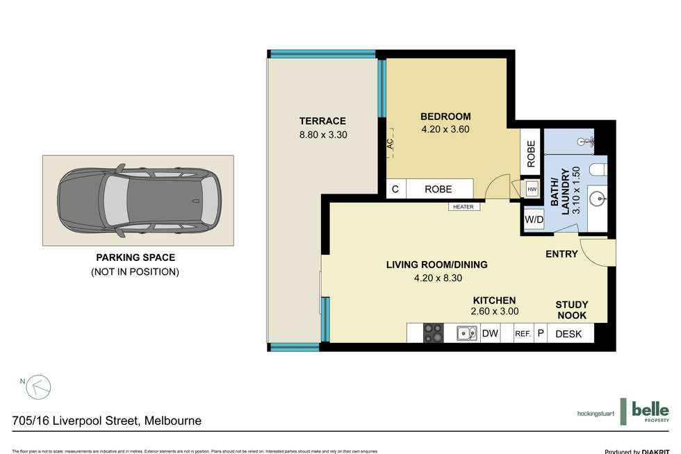 Floorplan of Homely apartment listing, 705/16 Liverpool Street, Melbourne VIC 3000