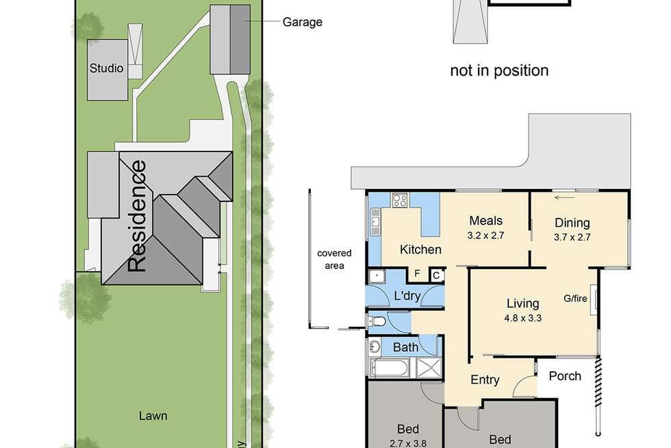 Floorplan of Homely house listing, 372 Melbourne Road, Blairgowrie VIC 3942
