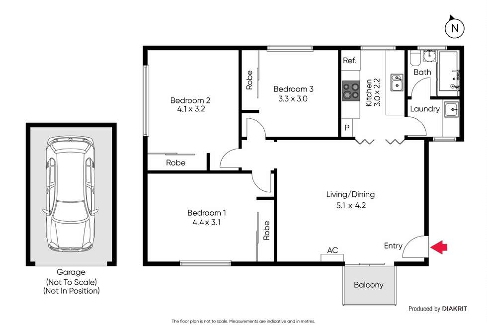 Floorplan of Homely apartment listing, 6/66 De Carle Street, Brunswick VIC 3056
