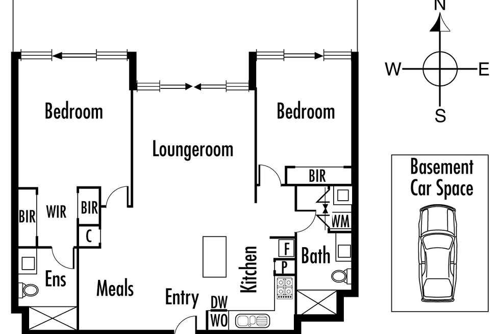 Floorplan of Homely apartment listing, 204/700 Chapel Street, South Yarra VIC 3141
