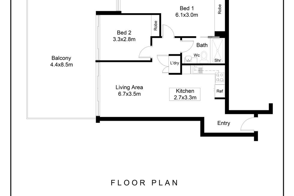 Floorplan of Homely apartment listing, 332/220 Bay Road, Sandringham VIC 3191