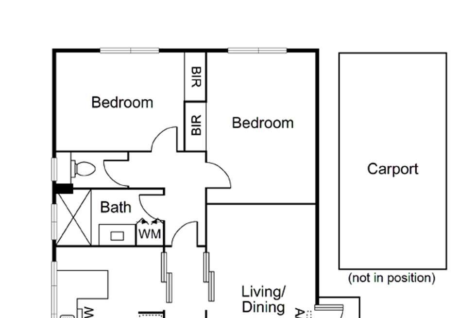 Floorplan of Homely apartment listing, 18/481 Kooyong Road, Elsternwick VIC 3185