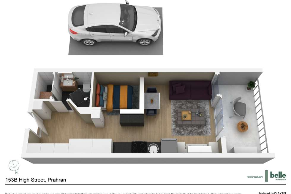 Floorplan of Homely apartment listing, 214/153B High Street, Prahran VIC 3181