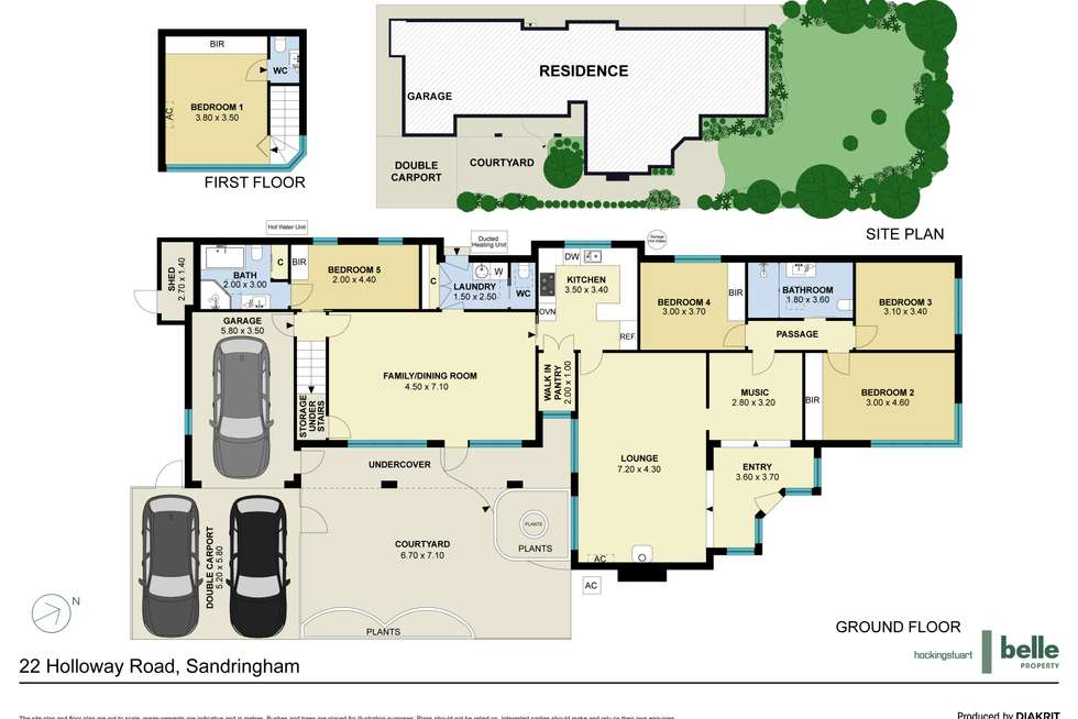 Floorplan of Homely house listing, 22 Holloway Road, Sandringham VIC 3191