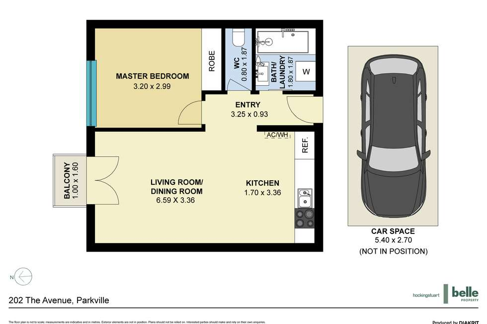 Floorplan of Homely apartment listing, 202 The Avenue, Parkville VIC 3052