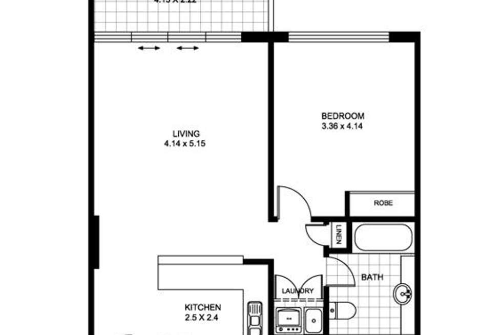 Floorplan of Homely apartment listing, 617/10 Brown Street, Chatswood NSW 2067