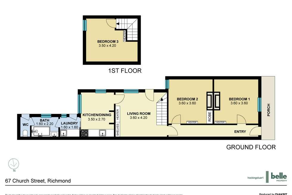 Floorplan of Homely house listing, 67 Church Street, Richmond VIC 3121