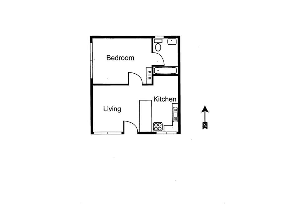 Floorplan of Homely apartment listing, 1/109 Mary Street, Richmond VIC 3121