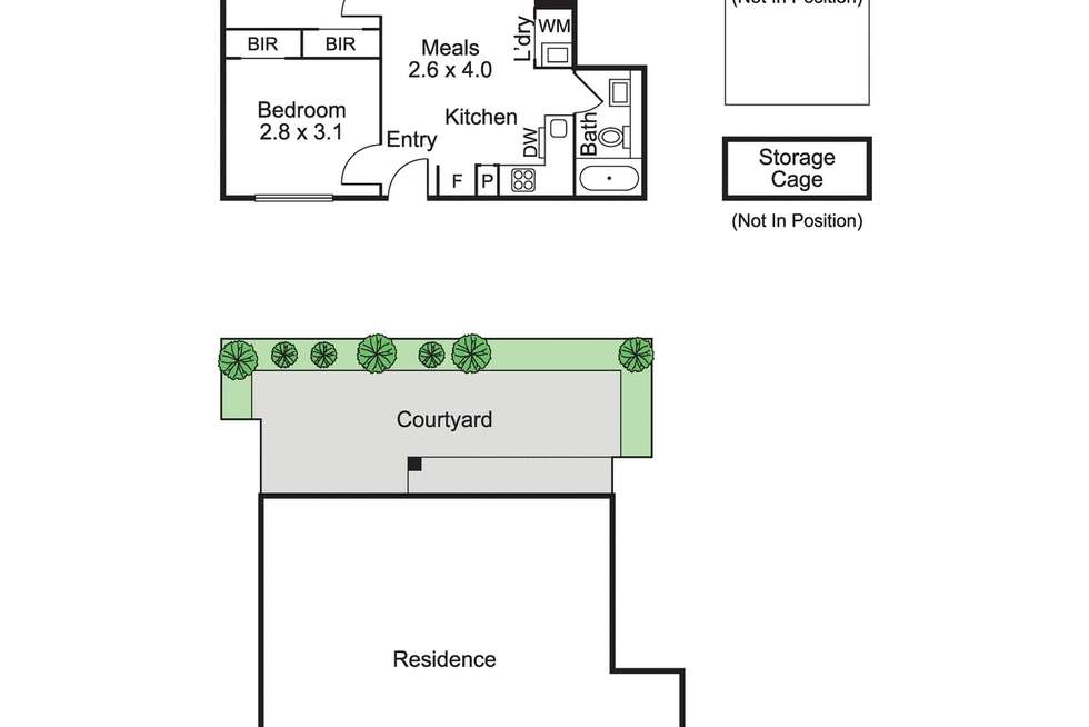 Floorplan of Homely apartment listing, 2/336 Neerim Road, Carnegie VIC 3163