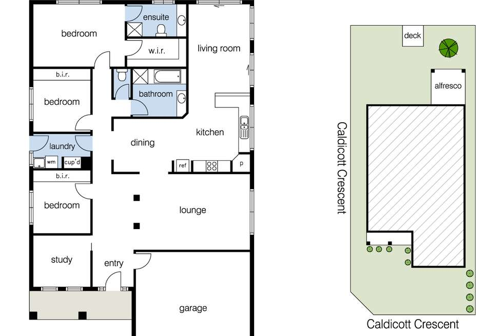 Floorplan of Homely house listing, 24 Caldicott Crescent, Point Cook VIC 3030