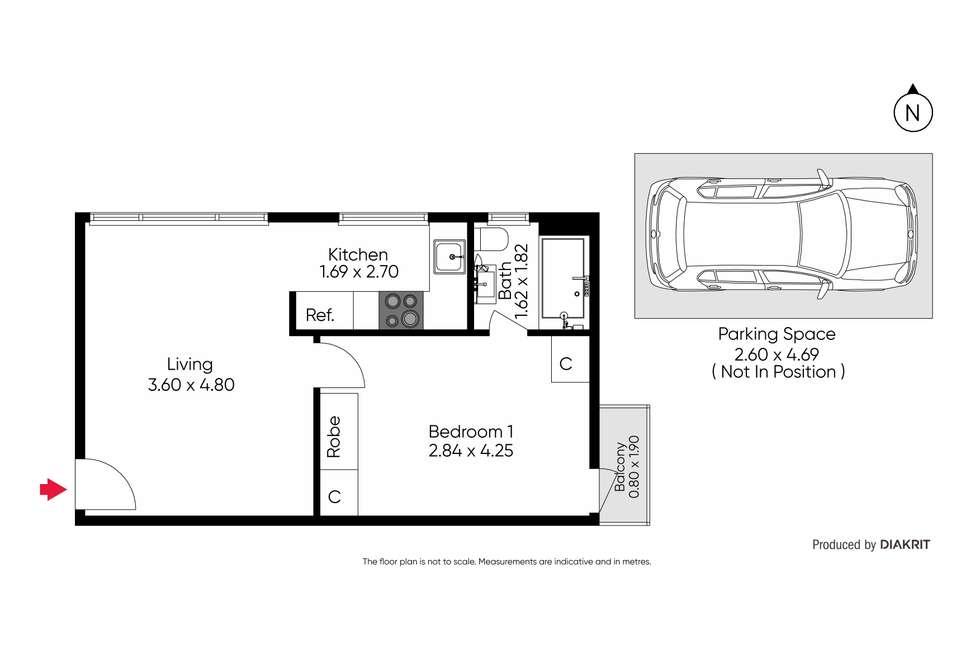 Floorplan of Homely apartment listing, 5/58 Lansdowne Road, St Kilda East VIC 3183