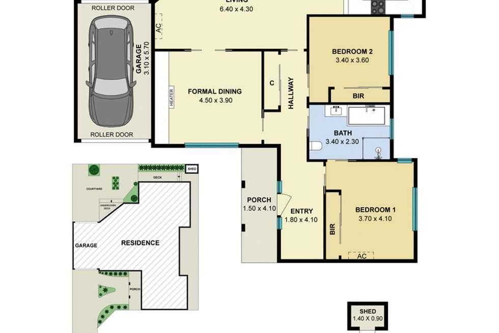 Floorplan of Homely house listing, 2/18 Roseberry Grove, Glen Huntly VIC 3163