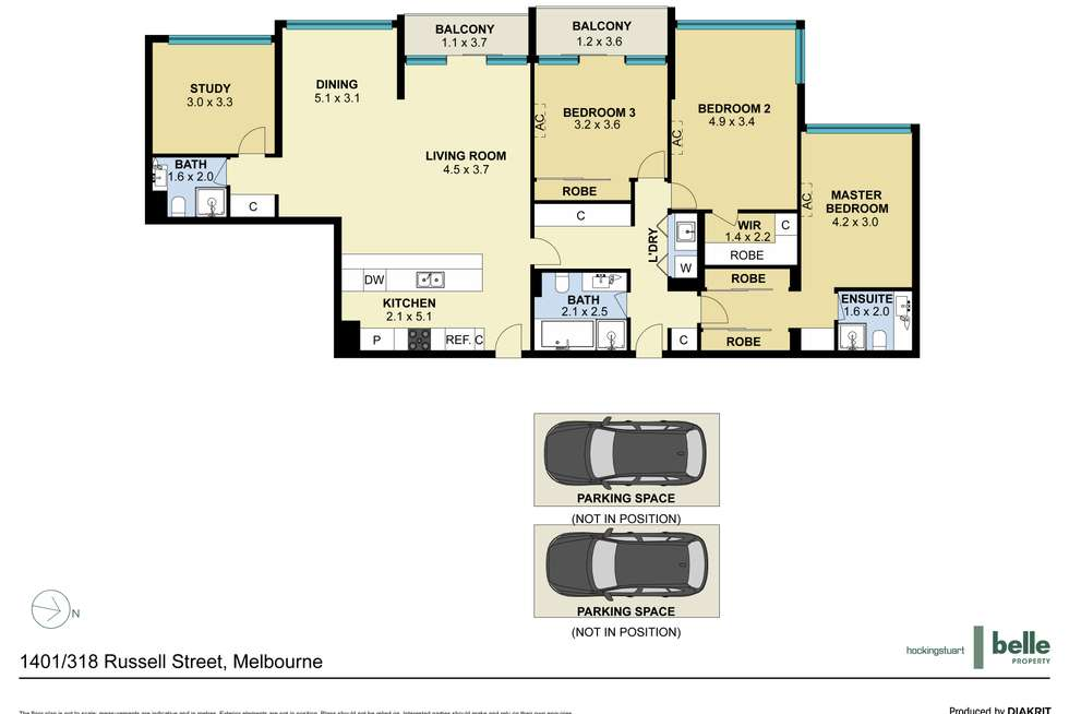 Floorplan of Homely apartment listing, 1401/318 Russell Street, Melbourne VIC 3000
