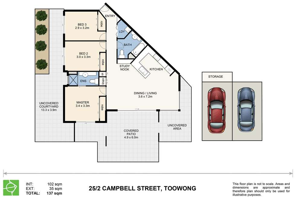 Floorplan of Homely unit listing, 25/2 Campbell Street, Toowong QLD 4066