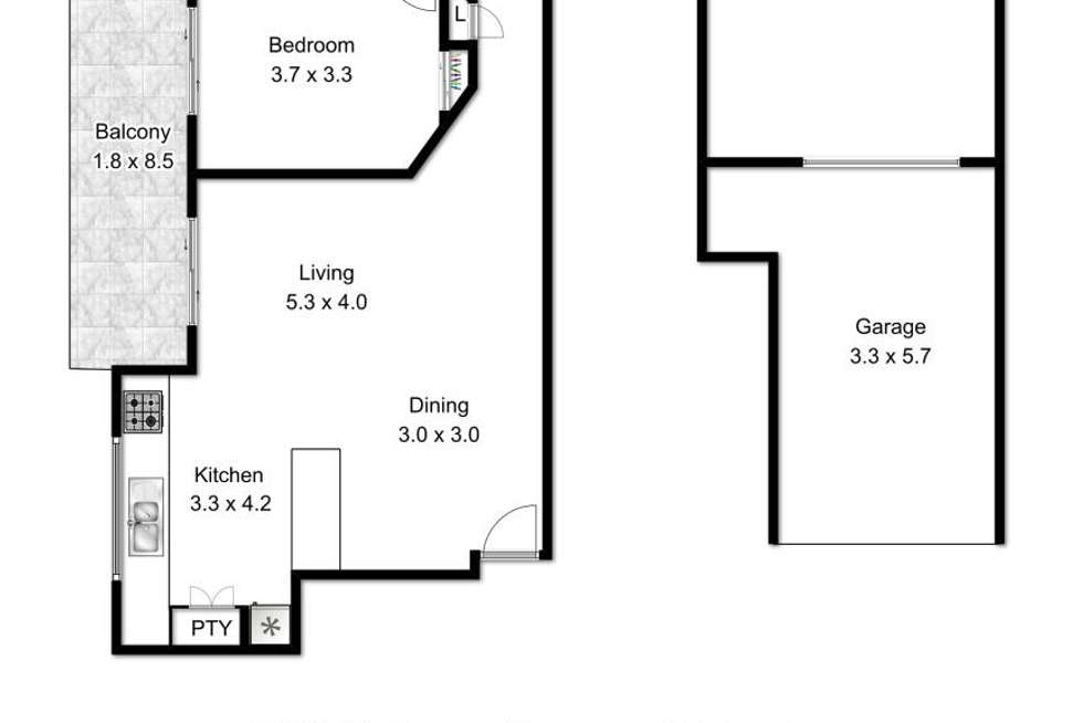 Floorplan of Homely unit listing, 9/29 Bellevue Terrace, St Lucia QLD 4067