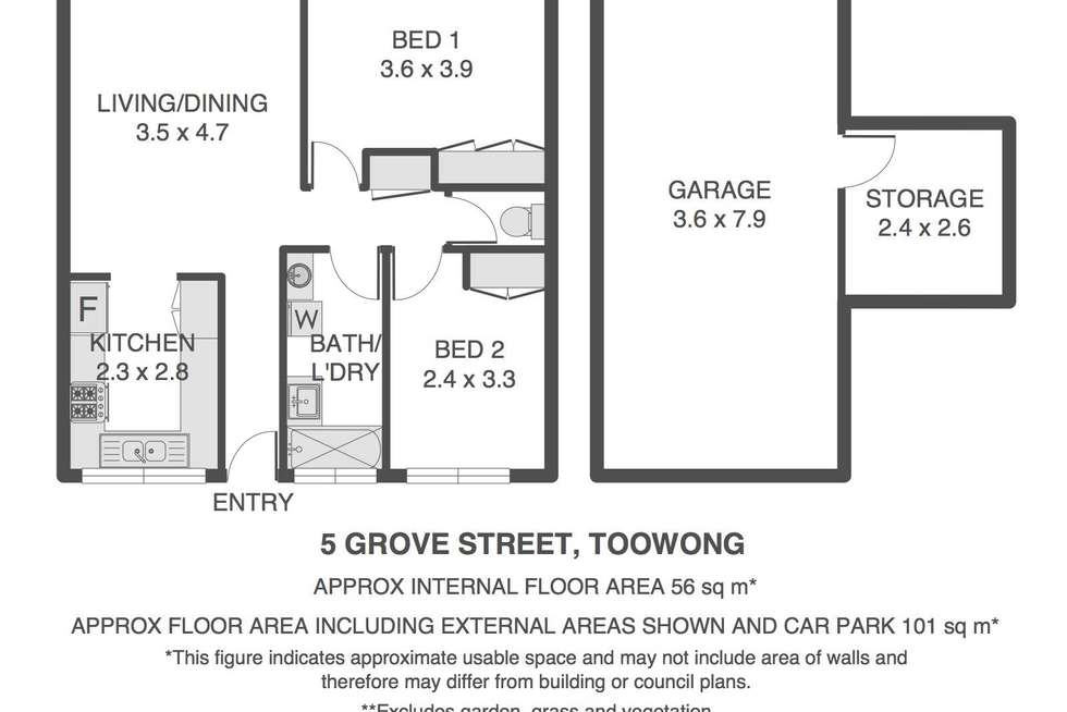 Floorplan of Homely unit listing, 5/31 Grove Street, Toowong QLD 4066