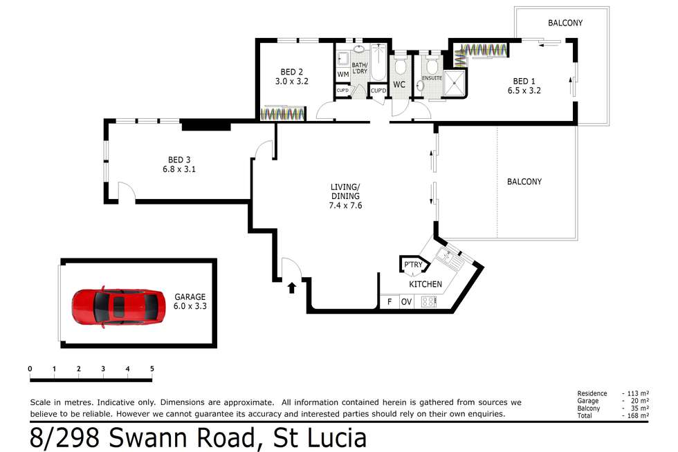 Floorplan of Homely unit listing, 8/298 Swann Road, St Lucia QLD 4067