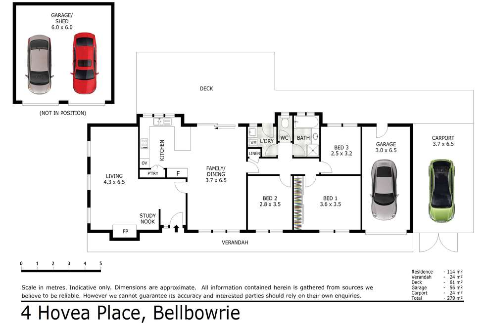 Floorplan of Homely house listing, 4 Hovea Place, Bellbowrie QLD 4070