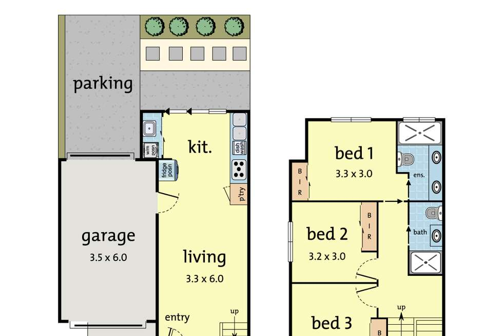 Floorplan of Homely townhouse listing, 3/24 Stonehaven Avenue, Boronia VIC 3155