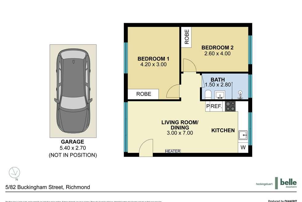 Floorplan of Homely apartment listing, 5/82 Buckingham Street, Richmond VIC 3121