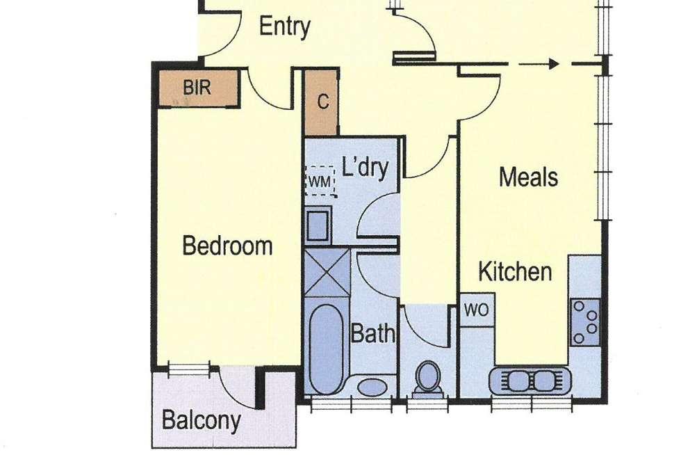 Floorplan of Homely apartment listing, 10/31 St Georges Road, Elsternwick VIC 3185