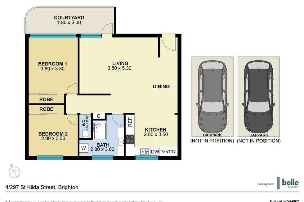 Floorplan of Homely apartment listing, 4/297 St Kilda Street, Brighton VIC 3186