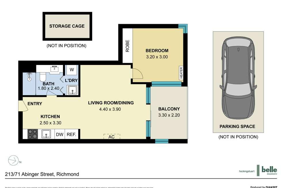 Floorplan of Homely apartment listing, 213/71 Abinger Street, Richmond VIC 3121