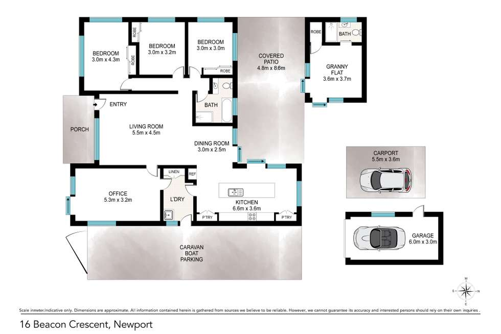 Floorplan of Homely house listing, 16 Beacon Crescent, Newport QLD 4020