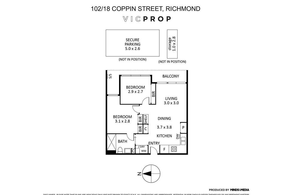 Floorplan of Homely apartment listing, 102/18 Coppin Street, Richmond VIC 3121