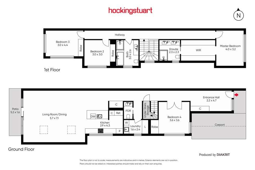 Floorplan of Homely townhouse listing, 12b Stanger Street, Yarraville VIC 3013