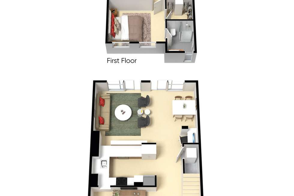 Floorplan of Homely townhouse listing, 15/2 Belgravia Street, Richmond VIC 3121